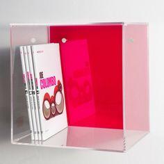 Mensole a Cubo 30x30 p.20 spessore 5mm. Mensole modulari a cubo in #plexiglass #mensole #cubo #shopping #online #arredo #interiordesign #arredamento #libreria #trasparente    Prezzo : 75€