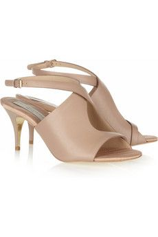 Hello pretty shoes! faux leather peep toe sandals ++ stella mc cartney