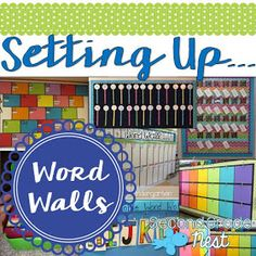 Setting up word walls for back to school classroom organization- get inspiration and ideas for setting up your sight word wall for primary and intermediate students Classroom Word Wall, First Grade Classroom, Classroom Setting, Primary Classroom, Kindergarten Classroom, School Classroom, Classroom Themes, Seasonal Classrooms, Montessori Elementary