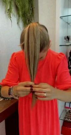 Hairdo For Long Hair, Bun Hairstyles For Long Hair, Scarf Hairstyles, Hair Up Styles, Medium Hair Styles, Hair Videos, Hair Today, Hair Looks, Hair Inspiration