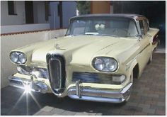 Ford Edsel-Ha ha, my dad had one of these and I use to duck down so friends couldn't see me in it! He said he was going to give it to me when I got my license-I'd say no way! Wish I had it today-worth some money!
