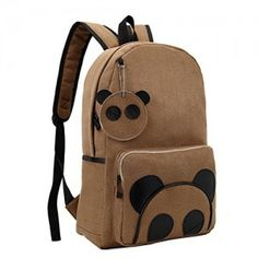 Donalworld-Unsexy-adult-Cute-Preppy-Style-Panda-Manmade-Leather-Shoulder-Handbag-Light-Brown-0