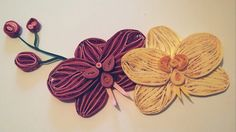 Quilling paper orchid