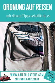 #Ordnung auf #Reisen: Tipps für das minimalistische Gepäck und Tricks wie man Ordnung behält. So habe ich meine #Capsule #Wardrobe für Reisen erstellt und diese Tipps kann ich euch geben, um Chaos im Koffer zu verhindern.