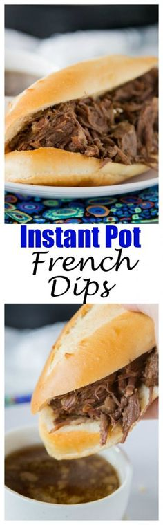 Instant Pot French Dip Sandwiches – make super tender and juicy french dip sandwiches in a fraction of the time using the instant pot!