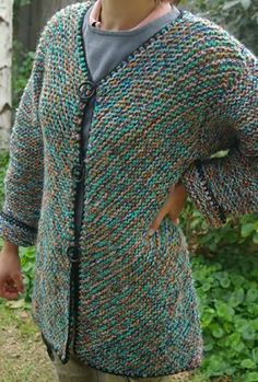 Ravelry: Angie's diagonal knit jacket FREE pattern by Angie Smales
