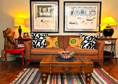 Boho living room idea