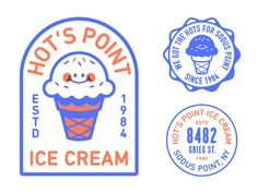 Hot's Point by Nick Slater Ci Design, Detail Design, Badge Design, Share Logo, Brand Icon, Typography Logo, Logo Branding, Branding Design, Symbol Design