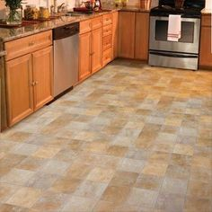 Kitchen flooring idea : Aurora®, Riviera by Mannington Vinyl Flooring