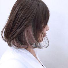 Peekaboo Hair Colors, Hair Color Purple, Pink Hair, Korean Hair Color Ombre, Korean Hair Dye, Pink Peekaboo Highlights, Red Color, Hair Streaks, Hair Highlights