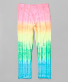 Pink & Yellow Tie-Dye Leggings - Toddler & Girls