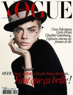 Vogue Paris October 2017 Cover (Vogue Paris)   David Sims - Photographer Emmanuelle Alt - Fashion Editor/Stylist Pierpaolo Lai - Hair Stylist Cara Delevingne - Model