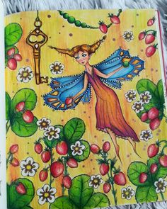 "47 Likes, 3 Comments - Jana Hetfleišová (@jana.hetfleis) on Instagram: ""Málo, málo času je... A little time to drawing...strawberry fairy #carovnelahodnosti…"""