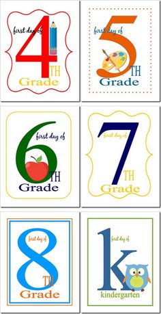 20 Back To School Free Printables First Day Of School Signs & Lunch Box Notes - TheSuburbanMom School Fun, School Days, School Stuff, Beginning Of The School Year, First Day Of School, School Vacation, Teachers Aide, Lunch Box Notes, School Signs