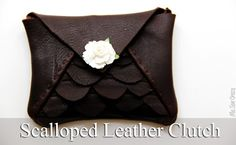Scalloped Leather Clutch for Handmade Gift Exchange {Tutorial}... - The Sewing Rabbit