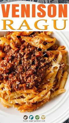 This is a rich venison ragu recipe that is, essentially, an authentic bolognese sauce. You can use any ground meat here if you don't have venison. Have you ever had a real, authentic Bolognese sauce? I mean an actual, honest-to-goodness Bolognese? It's just different from a typical meat sauce for pasta: smoother, meatier, mellower and a lot richer than a typical ragu or sugo. | @huntgathercook #hankshaw #veniosnrecipe #authenticragu #deerhunting #venisonrecipes #authenticpastarecipe #venison Ragu Recipe, Bolognese Recipe, Bolognese Sauce, Venison Recipes, Meat Recipes, Pasta Recipes, Game Recipes, Ground Venison, Ground Meat