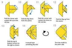 Learn how to make a pretty origami fish! This traditional origami model is easy and only takes a couple of minutes to make, it's great for kids.: Traditional Origami Fish Diagram - Page 2 Origami Fish Easy, Origami Turtle, Easy Origami For Kids, Cute Origami, Origami Art, Oragami, Origami Ring, Simple Origami, Origami Bookmark