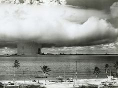 "Atom Bomb Test, Bikini Atoll - 25th July 1946. Officially, this was called the ""Baker"" test. My dad was there."
