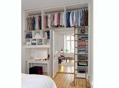 Closet Bedroom, Bedroom Storage, Bedroom Apartment, Bedroom Decor, Bedroom Ideas, Closet Storage, Apartment Ideas, Bedroom Furniture, Closet Shelves