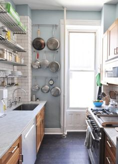 galley with different storage