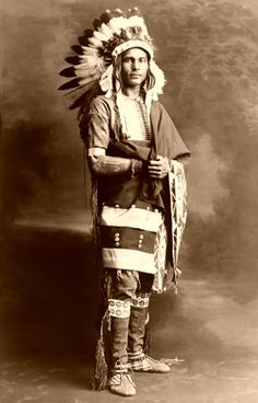 Chief Strong Arm, Potawatomi, photo by C.F. Squires, 1909.