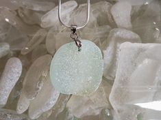 A hint of Lime sea glass pendant Sea Glass Ring, Sea Glass Jewelry, Green Pendants, Glass Pendants, Beach Candy, Pretty Green, Aqua Marine, Glass Earrings, Blue Sapphire