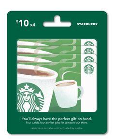 Starbucks Gift Cards, Multipack of 4 - $10: Amazon.com: Gift Cards