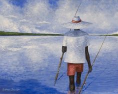 Wrote Gullah painter Jonathan Green last year and persuaded him to donate some artwork to the Faith Baptist Food Pantry. This is one of eight posters he sent to decorate our walls.