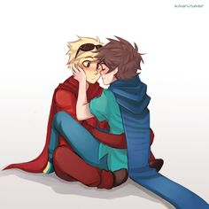 JohnDave. This was drawn by my absolute favourite artist ever for Homestuck
