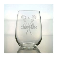 Lacrosse Coach Wine  Glass / Etched Personalized Glass / Engraved Stemless Wine Glass / Lacrosse Personalized Glass by GlassIslandDesigns on Etsy