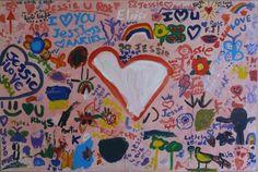 Jessie's Party in the Park - DoodleJam Fundraiser - vibrant group paintings using doodles #DoodleJam www.doodlejam.com