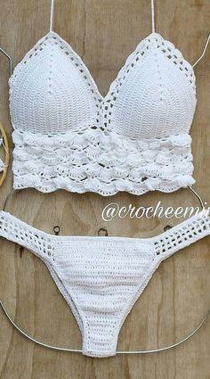 46 New Cute Crochet Bikini Pattern Images for new Summer 2019 Part 14 # Crochet Halter Tops, Motif Bikini Crochet, Crochet Bra, Cute Crochet, Crochet Clothes, Crochet Shorts, Bralette Pattern, Bra Pattern, Swimsuit Pattern