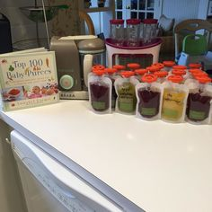 Made 22 bags of baby food today.  On the menu:  1. Sweet potatoes peas and baby spinach 2. Apples and mangos 3. Apples and cherries 4. Apples and blueberries  5. Mangos cherries blueberries mixed with rice cereal to cut the tartness #infantino #beabababycook #beaba #babyfood #homemade #mom #mama #mommy #momflow #momlife #boymom #glutenfree #glutenfreelife #glutenfreeliving by hardworknmama