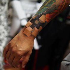 tatouage-3d-couleur-cubes-peau-manchette