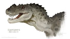 """This is """"ceratosaurus"""" by laurel austin on Vimeo, the home for high quality videos and the people who love them. Dinosaur Sketch, Dinosaur Drawing, Dinosaur Art, Dinosaur Crafts, Prehistoric Wildlife, Prehistoric Creatures, Mythical Creatures, Creatures 3, Creature Concept Art"""