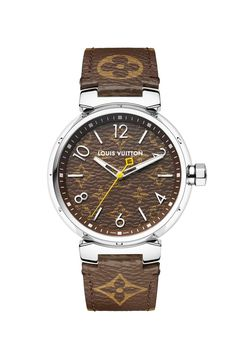 Louis Vuitton's Seasonal Watches Offer Both Monograms and Diamonds: Plenty of lavish timepieces for the luxury watch aficionado. Louis Vuitton Watches, Louis Vuitton Jewelry, Louis Vuitton Handbags, Lv Handbags, Latest Women Watches, Watches For Men, Cheap Watches, Women's Watches, Tooled Leather Purse