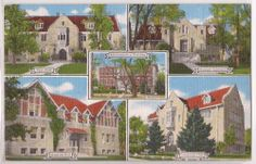"1940s Billings, Montana Postcard ""ROCKY MOUNTAIN COLLEGE Campus"" 5 Views Linen"