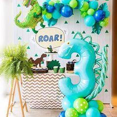 Dinasour Birthday, Dinosaur Birthday Cakes, Dinosaur Party, 1st Boy Birthday, 3rd Birthday Parties, Birthday Party Decorations, 3 Year Old Birthday Party Boy, Birthday Ideas, Cadeau Baby Shower