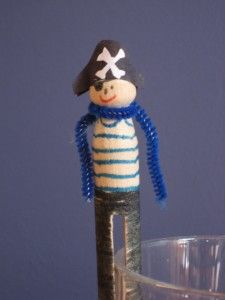 wooden peg or old clothes pin dolls (pirates, firemen, soldiers, etc.)