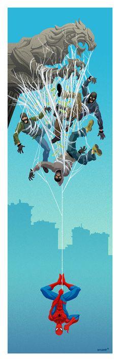 Tim Odland – Batman and Spiderman Long Format Prints Check more at http://geek.webissimo.biz/tim-odland-batman-and-spiderman-long-format-prints/