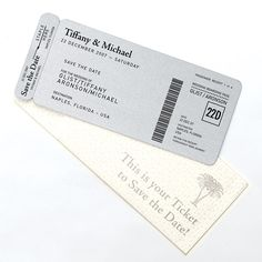 Brides.com: . Faux boarding passes cleverly inform guests of a destination wedding. $2,200, Grapevine