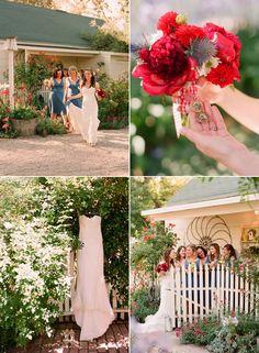 blue, red, white, vintage wedding