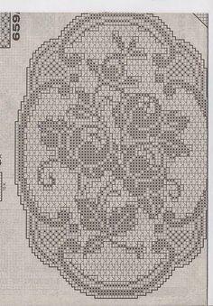 Kira crochet: Crocheted motif no. 348 Kira crochet: Crocheted motif no. Filet Crochet Charts, Crochet Cross, Crochet Diagram, Thread Crochet, Crochet Motif, Diy Crochet, Vintage Crochet, Crochet Doilies, Crochet Stitches