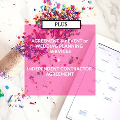 SAVE $52 WITH THE PLUS PACKAGE  Get your contracts in place for your event planning business. With this  package, you'll receive the:      * Agreement for Event or Wedding Planning Services     * Independent Contractor Agreement