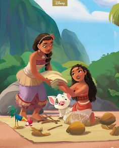 To all the moms, mums, and brave women in our lives, happy weekend! 💚💛 Swipe to see more 👉 Moana Disney, Walt Disney, Disney Nerd, Disney Fan Art, Cute Disney, Disney Family, Disney Magic, Disney Pixar, New Disney Movies