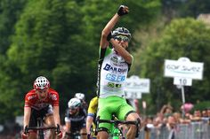 Gallery: 2014 Giro d'Italia, Stage 17 - After crossing the finish line in victory Stefano Pirazzi sent a message to his critics for falling short of victory in the past. This was Stefano Pirazzi's first win as a professional. Photo: Tim De Waele | TDWsport.com