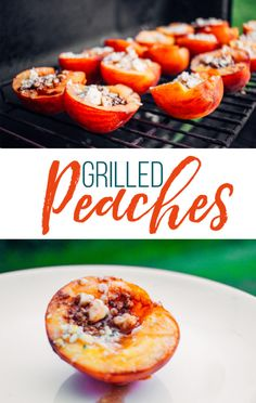 This grilled peach recipe is an explosion of flavors. It's a perfect side dish for your next cookout! Grilled peaches are also a great recipe for large groups. #grillingrecipe #peaches #grilledpeaches
