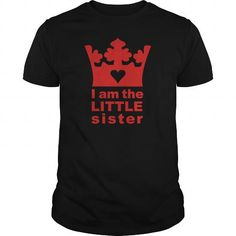 Make this awesome tee saying White I am the little sister Kids Shirts Kids T Shirt TGILWHW your Sister and friends Matching Family T Shirts, Family Shirts, Kids Shirts, Tee Shirts, T Shirts For Women, Big Sister Toddler Shirt, Sister Shirts, Cool Tees, Cool T Shirts