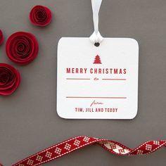 Personalized Letterpress Christmas Gift Tags