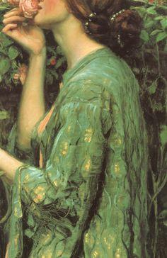 John William Waterhouse dress details